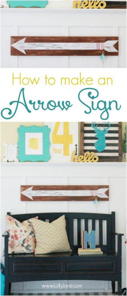 DIY | hand painted arrow sign