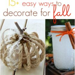 15+ easy ways to decorate for fall
