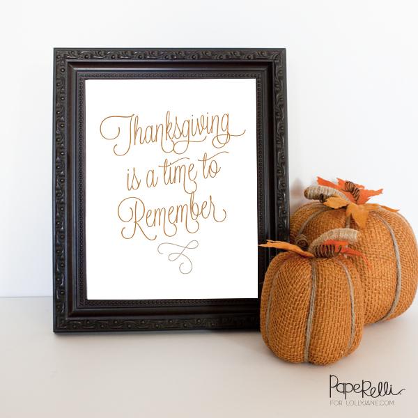 (FREE) Pretty Printable Perfect For Thanksgiving! |Via Paperelli