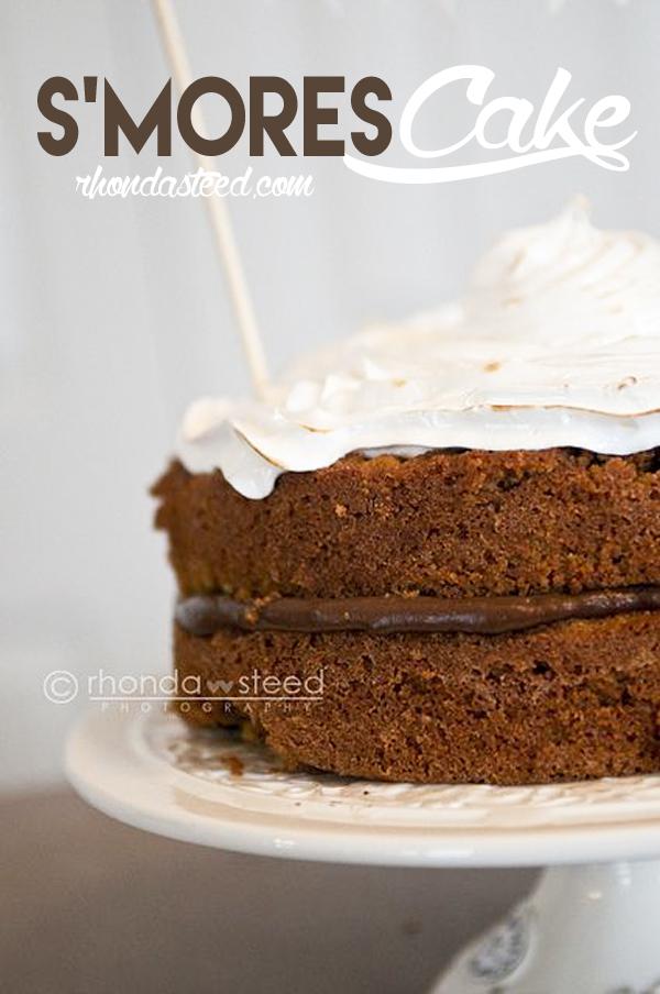 S'Mores-Cake-RhondaSteed.Com