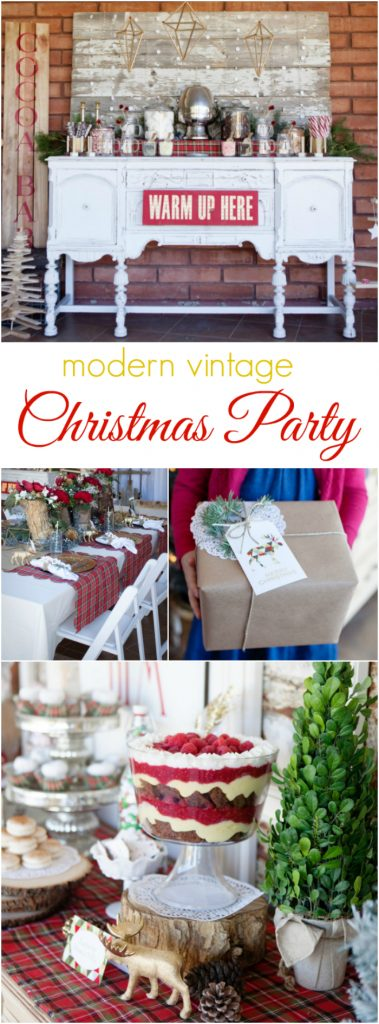 Awesome Vintage Christmas Party Ideas Part - 6: Modern Vintage Christmas Themed Party Ideas, So Pretty! Lots Of Christmas  Decor Ideas!