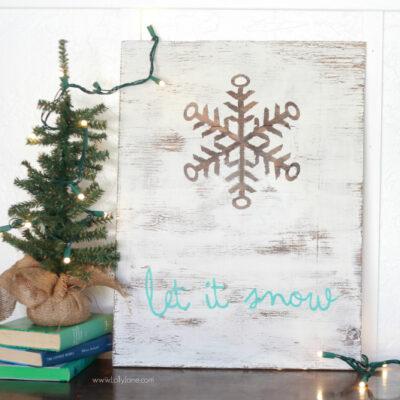 DIY | Let it Snow wood sign