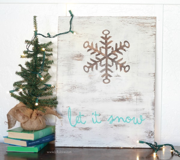 DIY | Let it Snow wood sign
