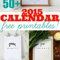 50+ 2015 free printable calendars | Ultimate Roundup!