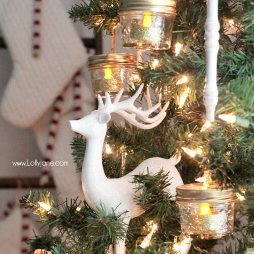 DIY Ball Mason Jar Christmas Ornaments