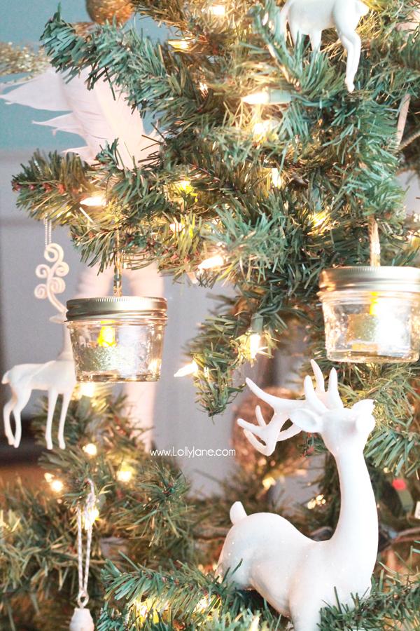 DIY Ball Mason Jar Christmas Ornaments