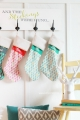 Easy DIY Christmas Stocking Board, perfect for fireplace mantle-less spaces!