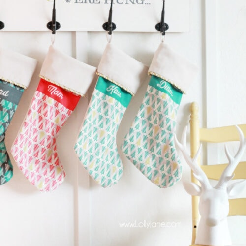 diy holiday stocking board