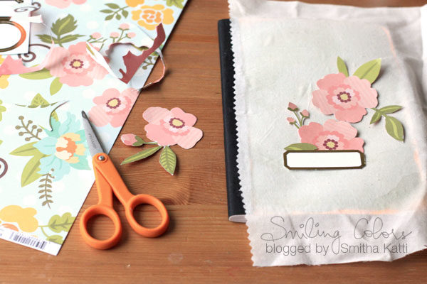"Pretty notebook transformation... the ""after"" makes a gorgeous yet easy-to-make  gift!"