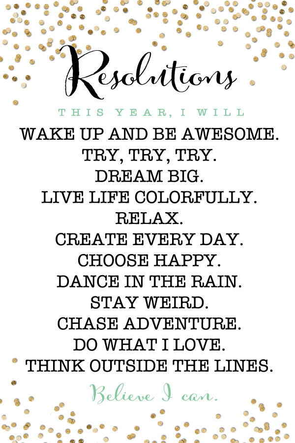 FREE Printable New Year Resolution Motivators