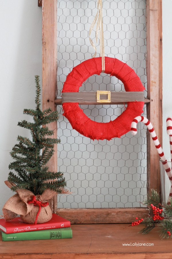 diy Santa-inspired wreath