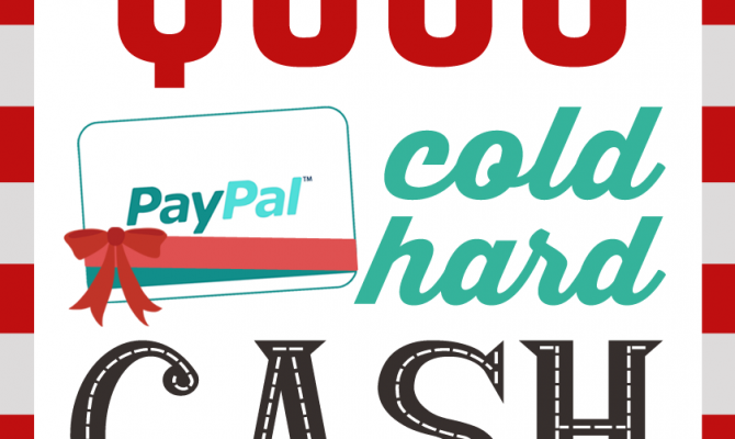 WIN $500 PAYPAL money! Perfect for the holidays!! Enter now!!
