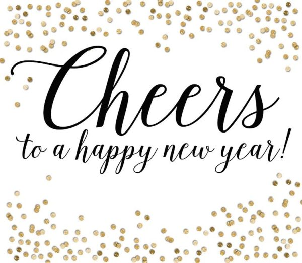 FREE PRINTABLE: Cheers to a happy new year. PLUS a great New Years neighbor gift idea!