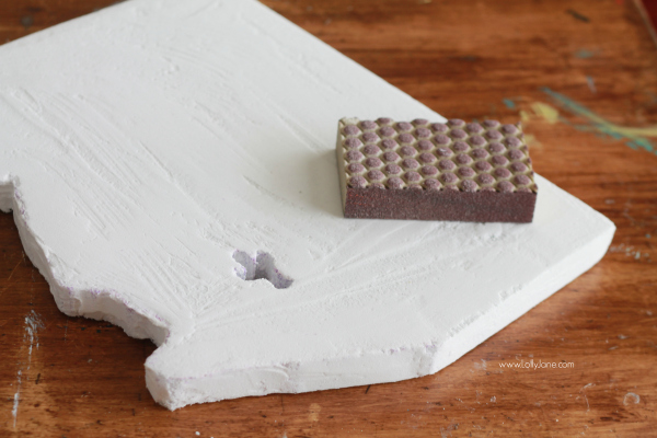 DIY | faux wood state decor
