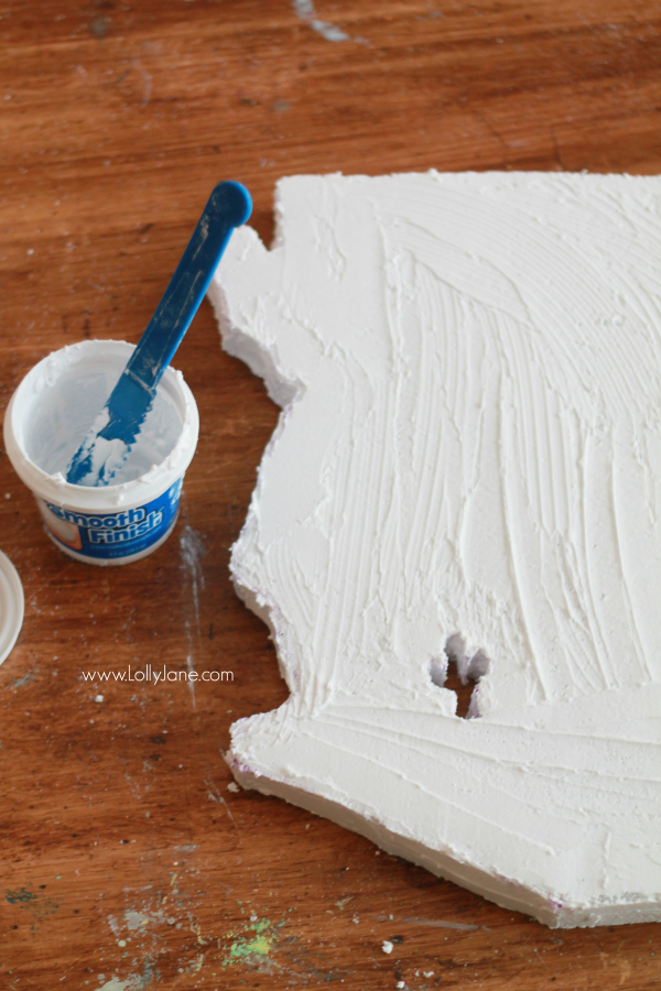 DIY | state art how-to, foam to wall decor