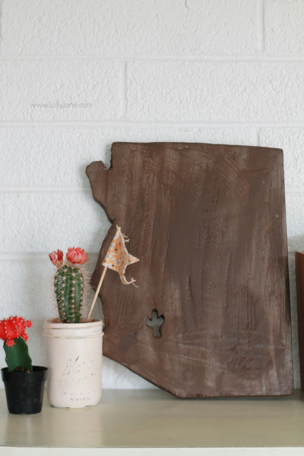 DIY   How to turn foam sheets into faux wood state art! Fun handmade gift idea for the hard to shop for person! Cute home decor idea!