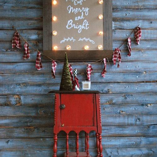 Adorable Christmas marquee decor!
