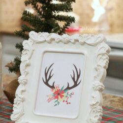 easy Christmas kitchen decor ideas |free printable