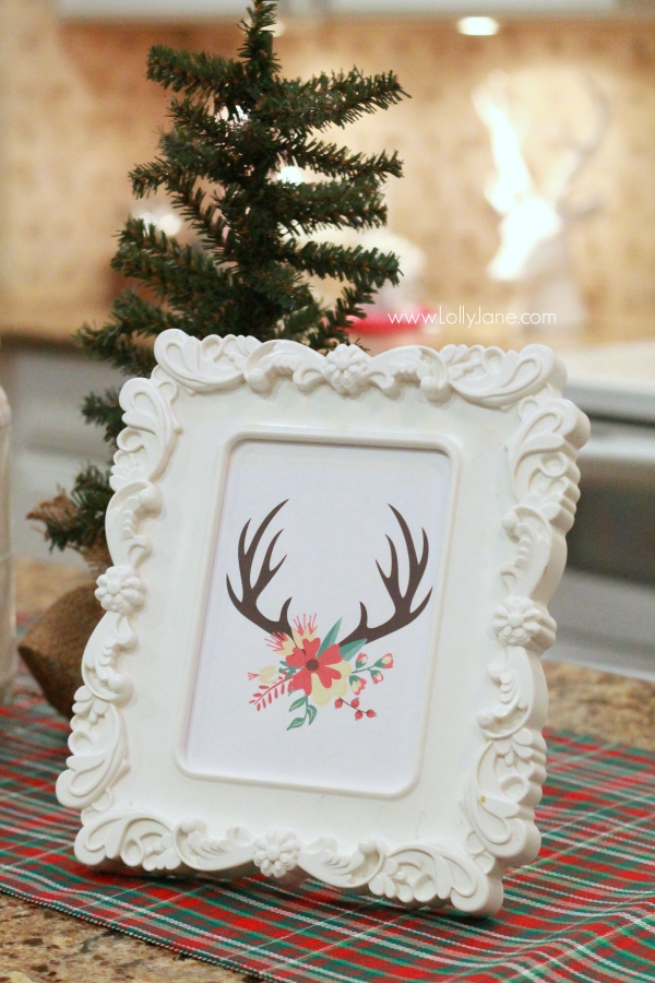 easy Christmas kitchen decor ideas |free printable