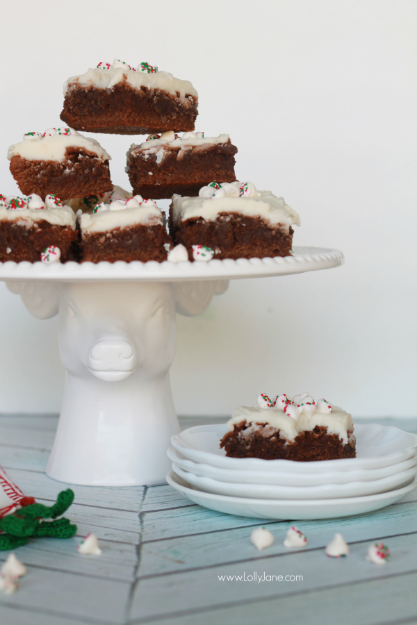 Easy mint brownies recipe, so yummy and quick to make!
