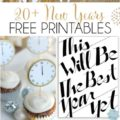 20+ New Years free printables! From budget planning to party decor, this is your one shop FREE printable stop!