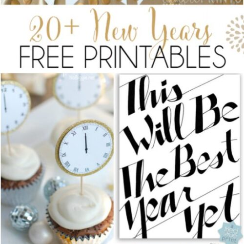 20+ New Years free printables