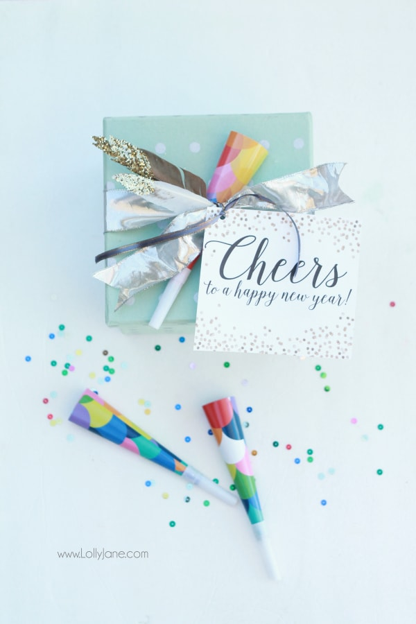 New Years party in a box gift idea