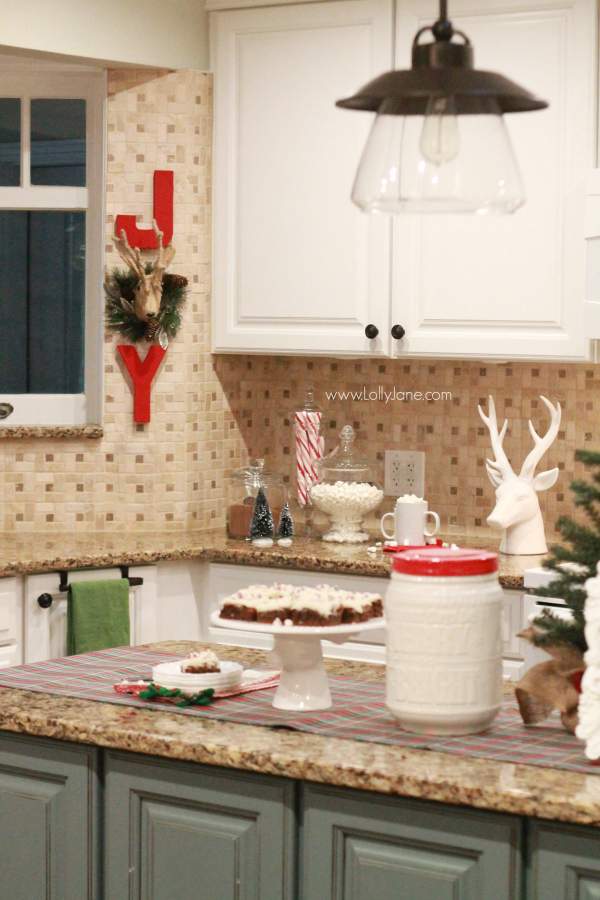 Easy christmas kitchen decor ideas for Christmas kitchen decor