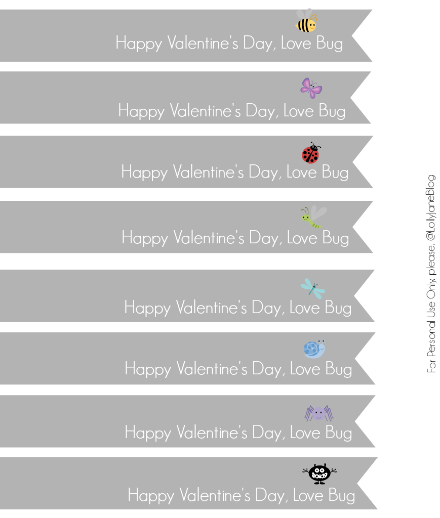 ADORABLE eos love bug valentines! Includes these free printable tags! Click through for final product, so cute!