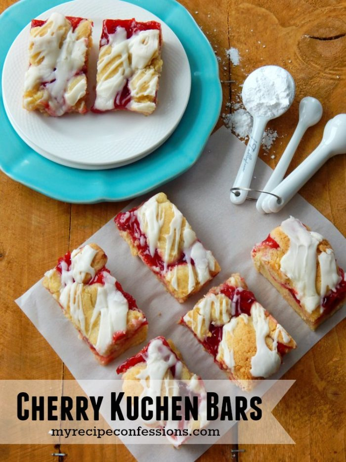 Amazingly delicious Cherry Kuchen Bars |via MyRecipeConfessions