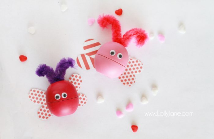 "EOS Lip Balm ""Love Bug"" Valentines. So cute! (Includes printable tag, too!)"