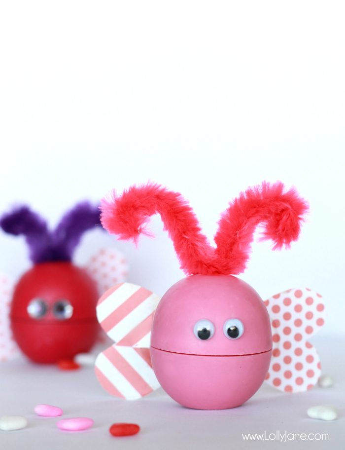"EOS Lip Balm ""Love Bug"" Valentines. So cute! (Includes printable tag, too!)"