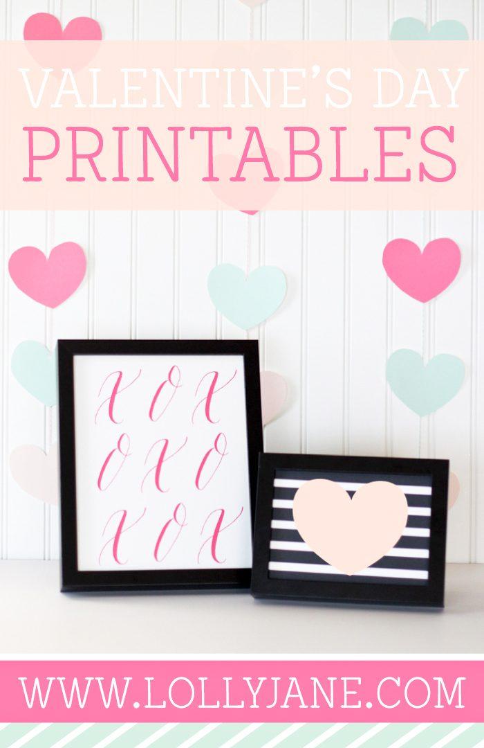 FREE Valentine's Day Printables |via Paperelli Designs
