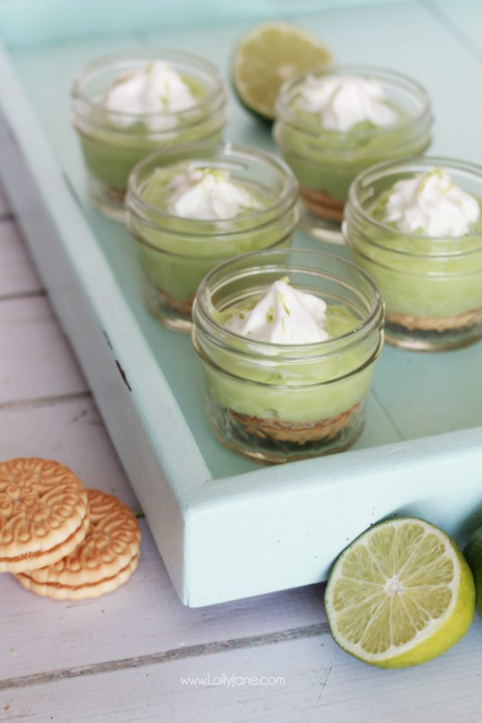 Some seriously yummy Key Lime Pudding in a Jar, no bake and so easy!