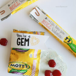fruit snack Valentine's free printables