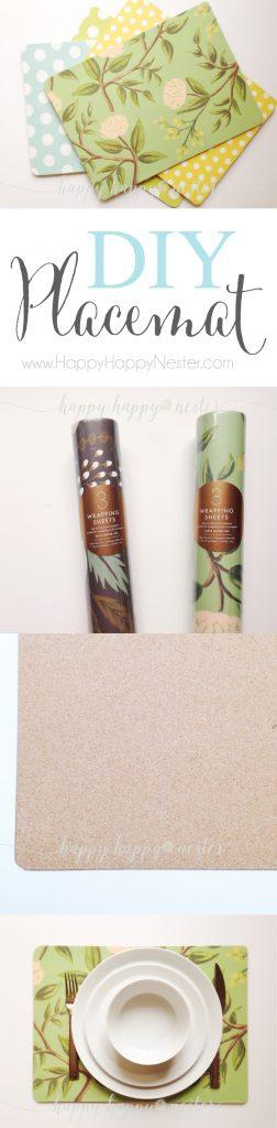 DIY Cork Board Placemats |Happy Happy Nester