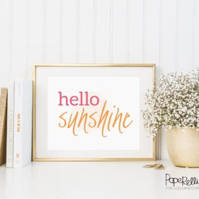 Hello Sunshine |free print
