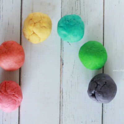 Rainbow Playdough Recipe