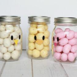 Easter mason jar craft favors