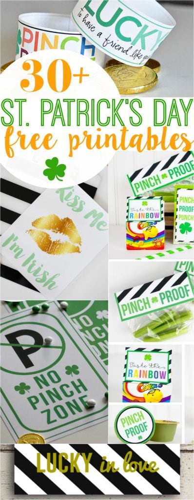 30+ St Patricks Day FREE printables! Your one stop for all things green and lucky! Lots of cute home decor ideas and fun kid activities for St Patrick's Day!