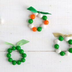 St. Patrick's Day gumball bracelets