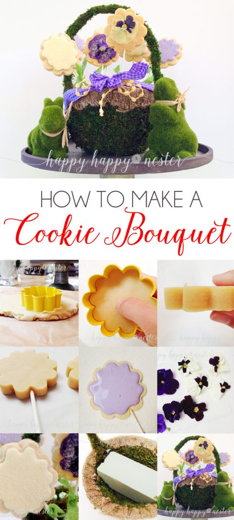 How to Make a Cookie Bouquet |via Happy Happy Nester