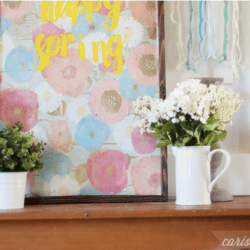 Happy Spring Art |with free printable