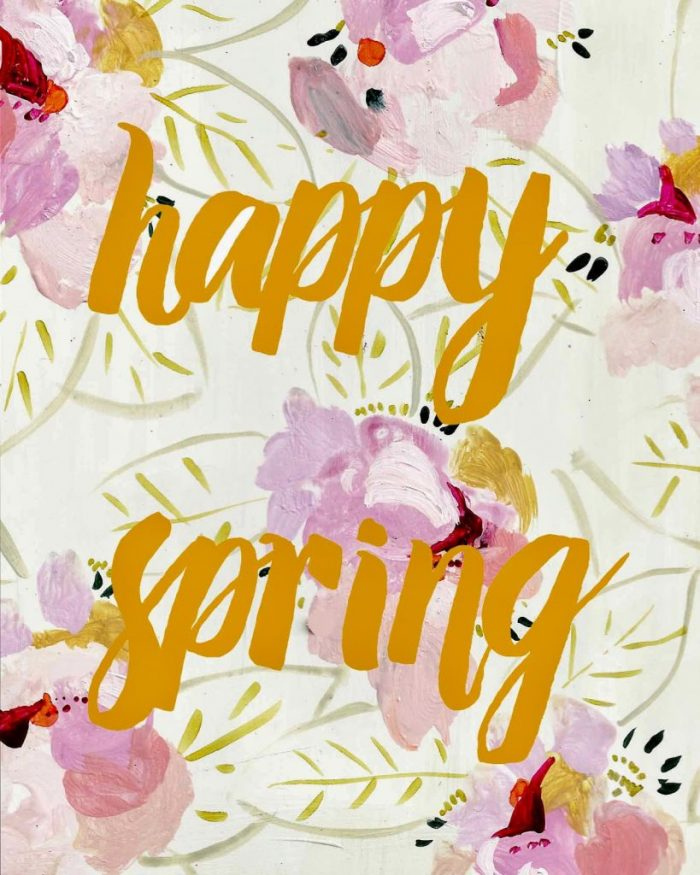 Happy Spring free printable! Love this pretty spring home decor!