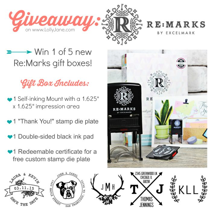 WIN one of five REMARKS gift boxes! $29.99 value! Lots of DIY possibilities too...click through for a fun bookcase stamped antler makeover!! | lollyjane.com ends March 25th