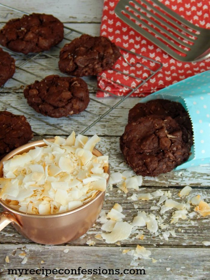 Double Chocolate Coconut Cookies |My Recipe Confessions