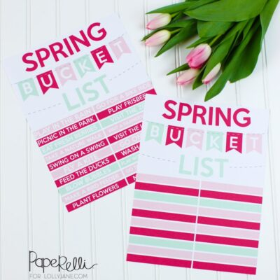Spring Bucket List Ideas + Printables