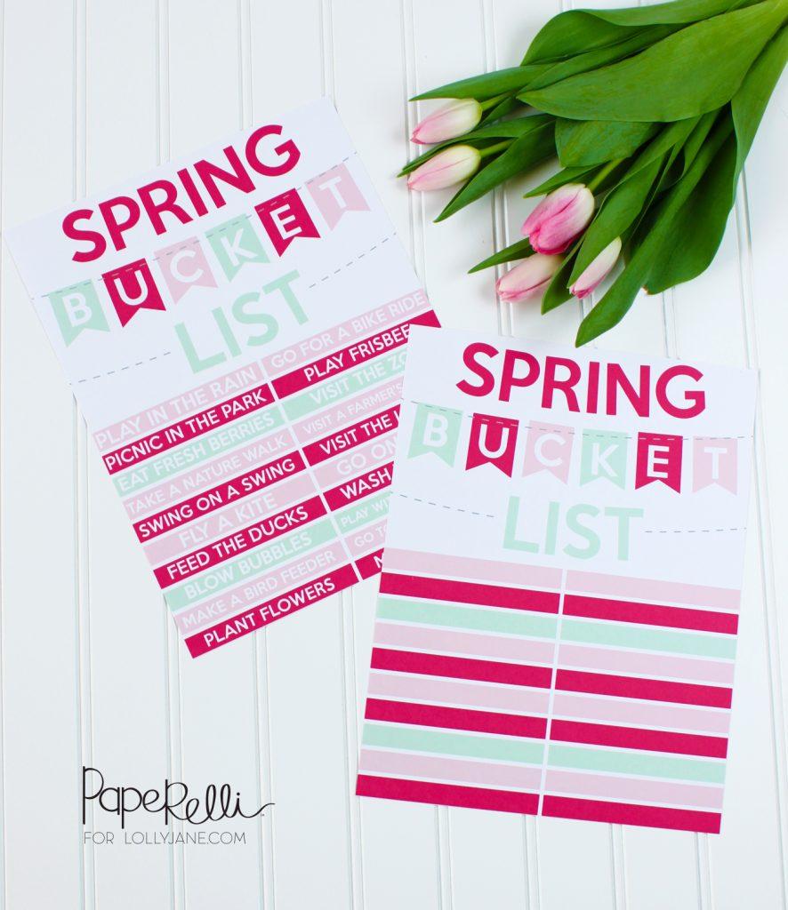 Spring Bucket List Ideas + Printables