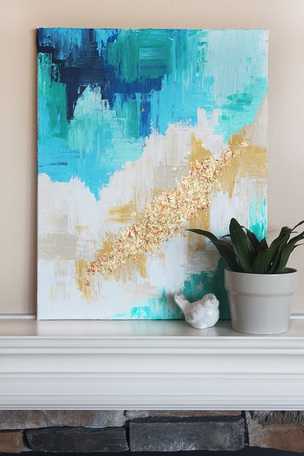diy abstract art canvas easy beginner abstract art