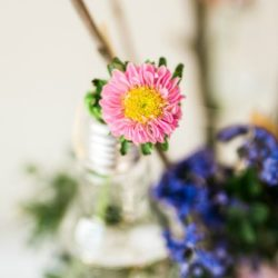mason jar bouquet gift idea